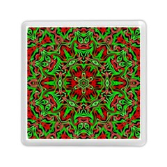 Christmas Kaleidoscope Pattern Memory Card Reader (Square)
