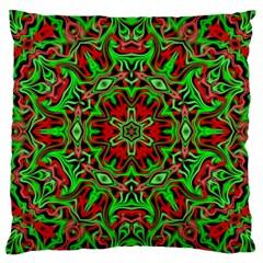 Christmas Kaleidoscope Pattern Large Cushion Case (One Side)