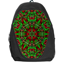 Christmas Kaleidoscope Pattern Backpack Bag