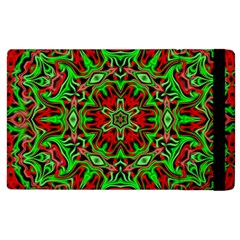 Christmas Kaleidoscope Pattern Apple Ipad 2 Flip Case