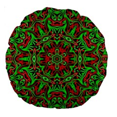 Christmas Kaleidoscope Pattern Large 18  Premium Round Cushions