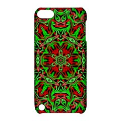 Christmas Kaleidoscope Pattern Apple Ipod Touch 5 Hardshell Case With Stand