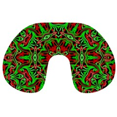Christmas Kaleidoscope Pattern Travel Neck Pillows