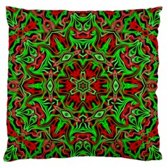 Christmas Kaleidoscope Pattern Standard Flano Cushion Case (One Side)