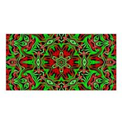 Christmas Kaleidoscope Pattern Satin Shawl