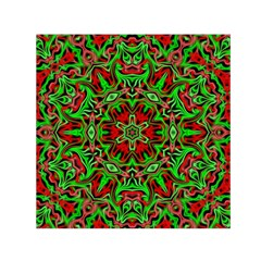 Christmas Kaleidoscope Pattern Small Satin Scarf (square)
