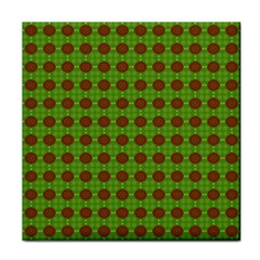 Christmas Paper Wrapping Patterns Tile Coasters