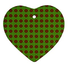 Christmas Paper Wrapping Patterns Ornament (heart)