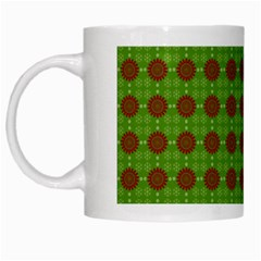 Christmas Paper Wrapping Patterns White Mugs