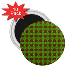 Christmas Paper Wrapping Patterns 2.25  Magnets (10 pack)