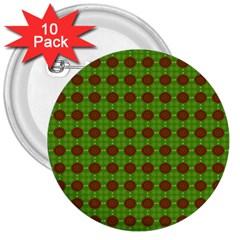 Christmas Paper Wrapping Patterns 3  Buttons (10 pack)