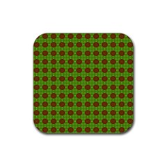 Christmas Paper Wrapping Patterns Rubber Square Coaster (4 pack)