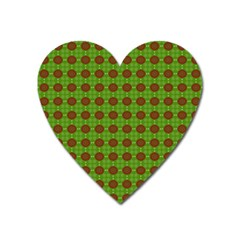 Christmas Paper Wrapping Patterns Heart Magnet