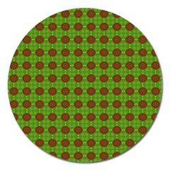 Christmas Paper Wrapping Patterns Magnet 5  (Round)