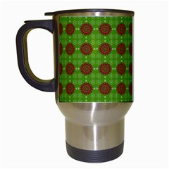 Christmas Paper Wrapping Patterns Travel Mugs (White)