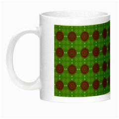 Christmas Paper Wrapping Patterns Night Luminous Mugs