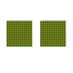 Christmas Paper Wrapping Patterns Cufflinks (square)