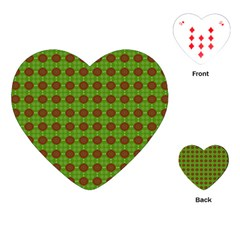 Christmas Paper Wrapping Patterns Playing Cards (Heart)
