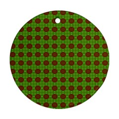 Christmas Paper Wrapping Patterns Round Ornament (Two Sides)