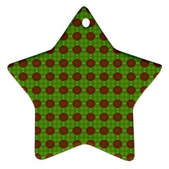 Christmas Paper Wrapping Patterns Star Ornament (Two Sides)