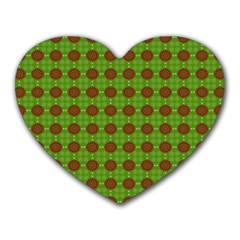 Christmas Paper Wrapping Patterns Heart Mousepads