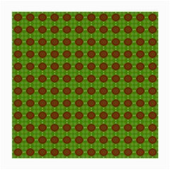 Christmas Paper Wrapping Patterns Medium Glasses Cloth (2-Side)