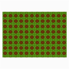 Christmas Paper Wrapping Patterns Large Glasses Cloth (2-Side)