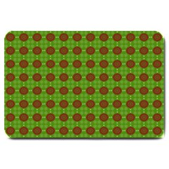 Christmas Paper Wrapping Patterns Large Doormat