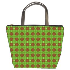 Christmas Paper Wrapping Patterns Bucket Bags