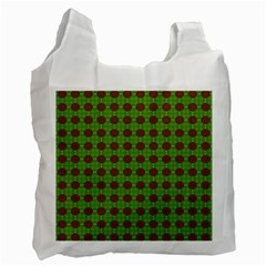 Christmas Paper Wrapping Patterns Recycle Bag (two Side)