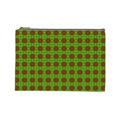 Christmas Paper Wrapping Patterns Cosmetic Bag (Large)