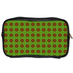 Christmas Paper Wrapping Patterns Toiletries Bags