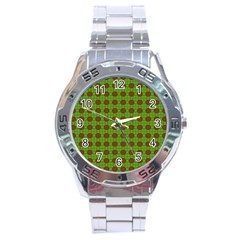 Christmas Paper Wrapping Patterns Stainless Steel Analogue Watch