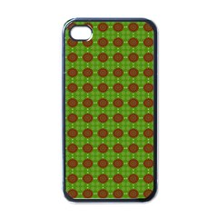 Christmas Paper Wrapping Patterns Apple iPhone 4 Case (Black)