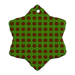 Christmas Paper Wrapping Patterns Snowflake Ornament (Two Sides)