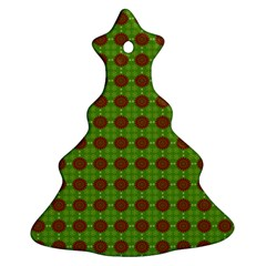 Christmas Paper Wrapping Patterns Christmas Tree Ornament (two Sides)