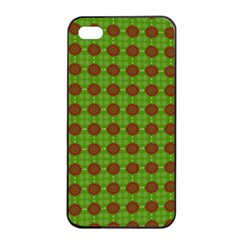 Christmas Paper Wrapping Patterns Apple iPhone 4/4s Seamless Case (Black)