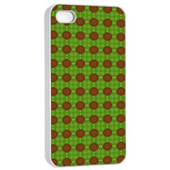 Christmas Paper Wrapping Patterns Apple iPhone 4/4s Seamless Case (White)