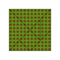 Christmas Paper Wrapping Patterns Acrylic Tangram Puzzle (4  X 4 )