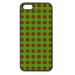 Christmas Paper Wrapping Patterns Apple Iphone 5 Seamless Case (black)