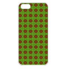 Christmas Paper Wrapping Patterns Apple Iphone 5 Seamless Case (white)