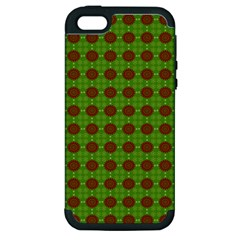 Christmas Paper Wrapping Patterns Apple Iphone 5 Hardshell Case (pc+silicone)