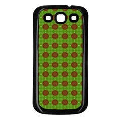 Christmas Paper Wrapping Patterns Samsung Galaxy S3 Back Case (black)
