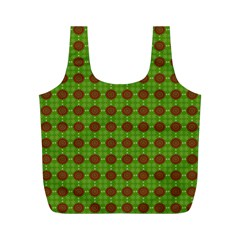 Christmas Paper Wrapping Patterns Full Print Recycle Bags (M)