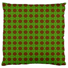 Christmas Paper Wrapping Patterns Large Flano Cushion Case (two Sides)
