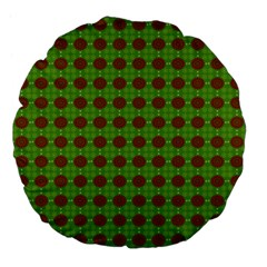 Christmas Paper Wrapping Patterns Large 18  Premium Flano Round Cushions