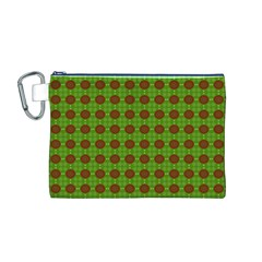 Christmas Paper Wrapping Patterns Canvas Cosmetic Bag (M)