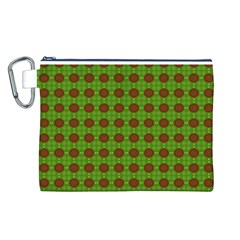 Christmas Paper Wrapping Patterns Canvas Cosmetic Bag (L)