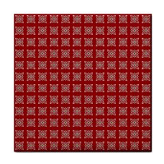 Christmas Paper Pattern Tile Coasters