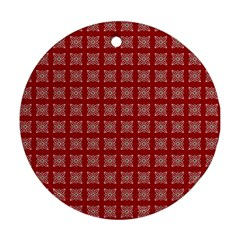 Christmas Paper Pattern Ornament (round)